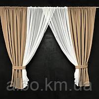 Занавески и шторы в комнату, занавеска из шифона для спальни, гардины в спальню кухню детскую ALBO 400x180 cm, фото 8