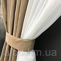 Занавески и шторы в комнату, занавеска из шифона для спальни, гардины в спальню кухню детскую ALBO 400x180 cm, фото 3