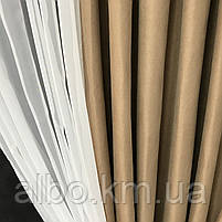 Занавески и шторы в комнату, занавеска из шифона для спальни, гардины в спальню кухню детскую ALBO 400x180 cm, фото 4