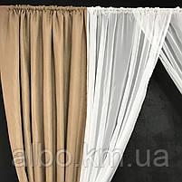 Занавески и шторы в комнату, занавеска из шифона для спальни, гардины в спальню кухню детскую ALBO 400x180 cm, фото 7