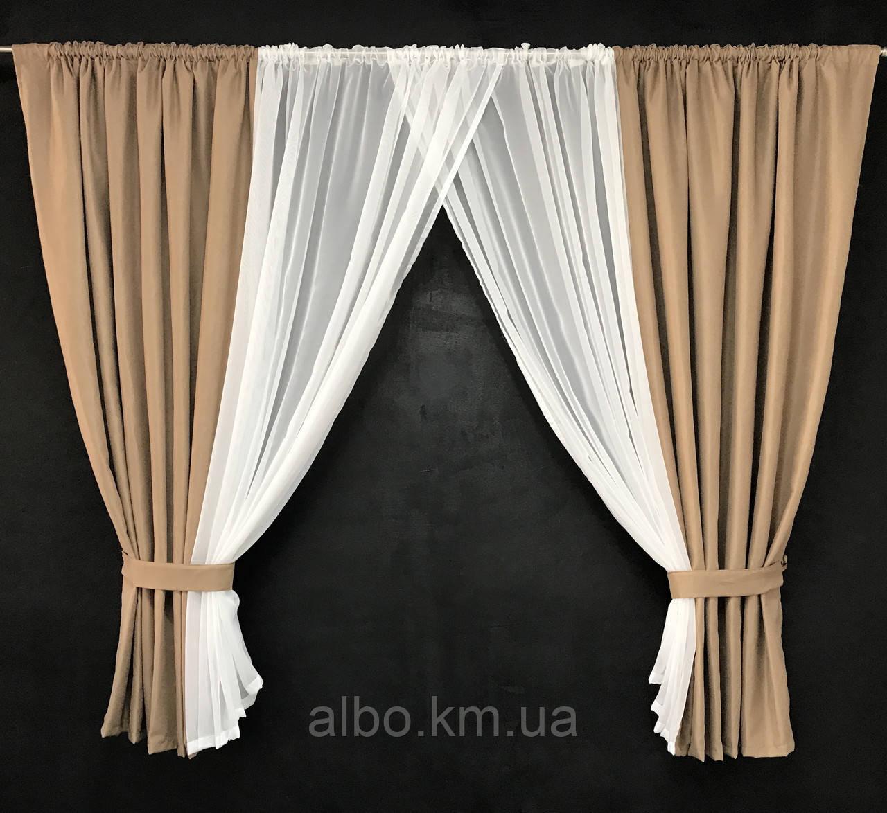Занавески и шторы в комнату, занавеска из шифона для спальни, гардины в спальню кухню детскую ALBO 400x180 cm