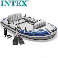 Чотиримісна човен надувний Intex Excursion 4 set