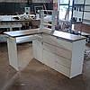 """Угловой стол для маникюра с тумбой, УФ блоком, полочками и столешницей в цвете """"Дуб санома"""", фото 6"""