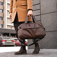 Мужская кожаная сумка mod.RollingStone коричневая