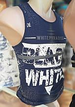 Майка чоловіча стильна WHITE PARADIZE розмір M-2XL купити оптом зі складу 7км Одеса