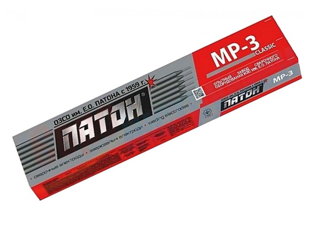 Електроди зварювальні Патон МР-3 Classic 4 мм 5 кг (12-232)