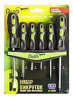 Набор отверток шлиц и крест 6 предметов (блистер) + планка для крепления НО-6Б Alloid