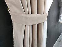 Красива фіранка з шифоном ALBO 400x180 cm Бежева (KU-PK-95), фото 2