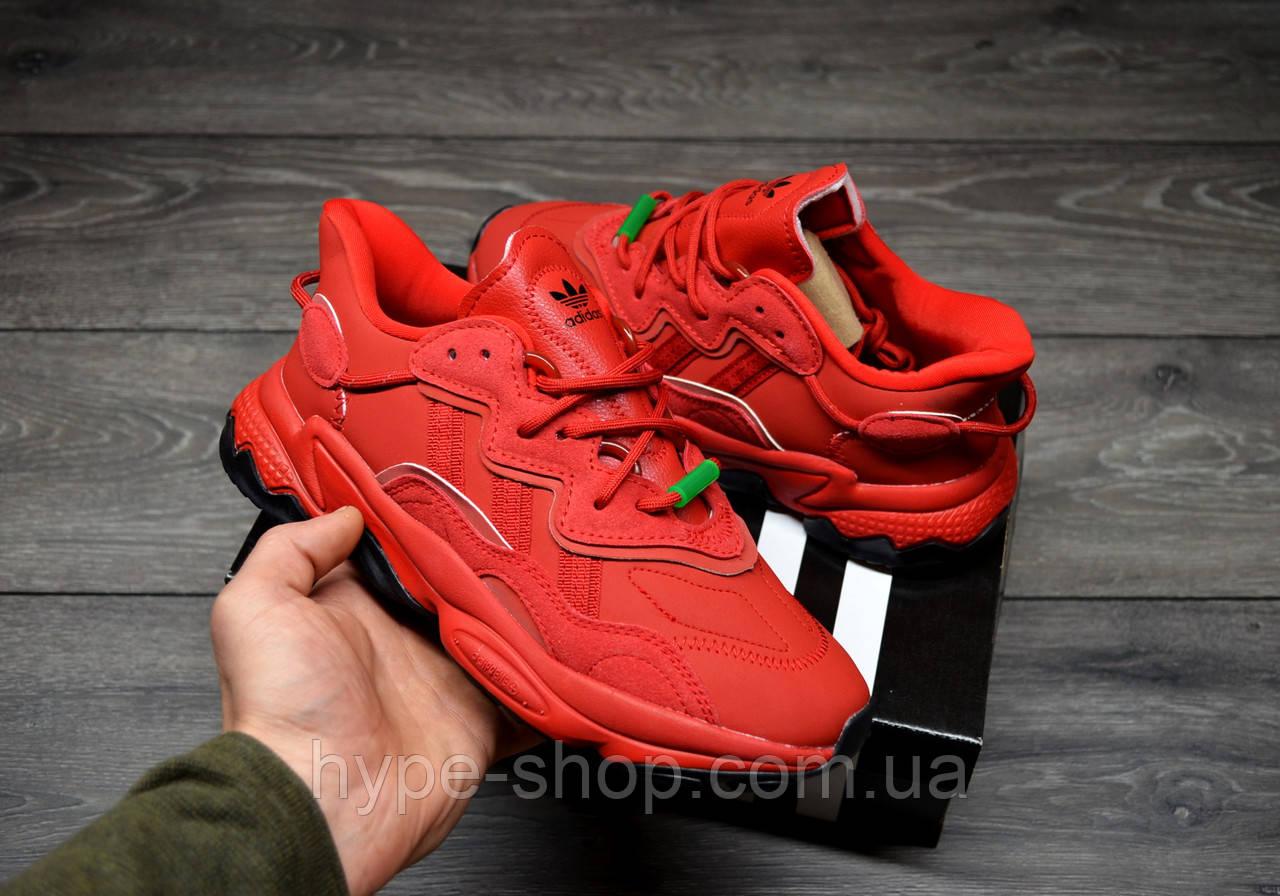 Чоловічі Кросівки Adidas Ozweego Red адідас озвиго червоні