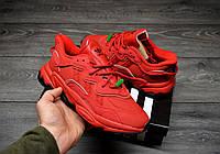 Чоловічі Кросівки Adidas Ozweego Red адідас озвиго червоні, фото 1