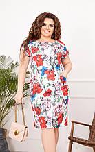Летнее женское платье,размеры:50,52,54,56,58.
