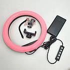 Кольцевая LED лампа 33 см RGBW 8 цветов кольцевой свет подсветка для фотографов блогеров тиктокеров визажистов, фото 3