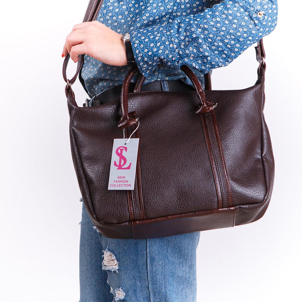 09d0a05d655c Темно-коричневая сумка с ремешком цвет шоколад - Интернет магазин сумок  SUMKOFF - женские и