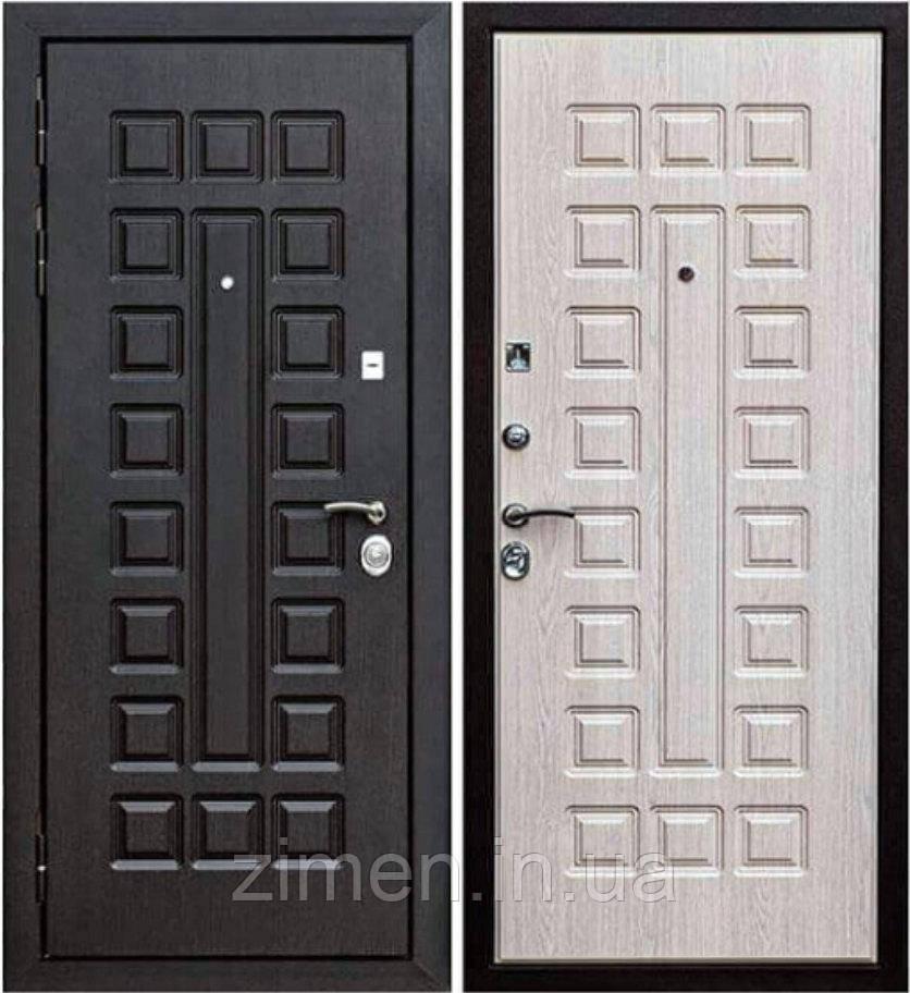 Входная дверь Сенатор 12 см Венге/Белый ясень
