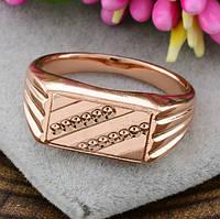 Печатка мужская Xuping. Золото розовое (покрытие) 585 пробы. 20 размер