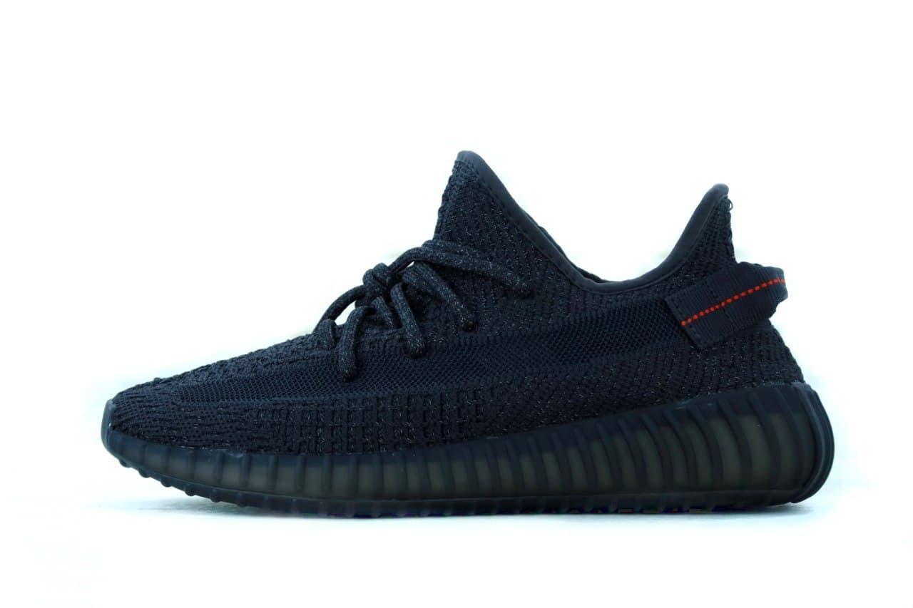 Мужские кроссовки Adidas Yeezy Boost 350 (черные) К11928 рефлективные крутые кроссы
