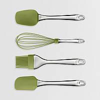 Набір кухонного приладдя силікон (лопатка, пензлик, віночок, ложка), фото 1
