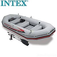 Чотиримісна човен надувний Intex Mariner 4 set