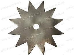 Ніж для мотокоси сталевий 12Т (для бур'яну, двостороння заточка)