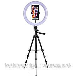 Набор для блогера светодиодная лампа кольцевого света UKC со штативом Bluetooth USB Black (L210-tripod)