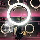 Набор для блогера Selfie Ring Light светодиодная лампа кольцевого света со штативом и Bluetooth-пультом, фото 7