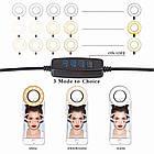 Набор для блогера светодиодная лампа кольцевого света Selfie Ring Light с гибким держателем для смартфона и, фото 2