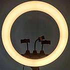 Кольцевая лампа Ring Light светодиодная с тремя съёмными держателями для телефонов пультом ДУ и сумкой 55см, фото 10