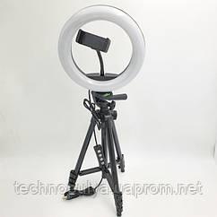 Набор для блогера кольцевая лампа кольцо 26 см от USB и штатив 125 см с Bluetooth пультом Black (LC666-X-5208)