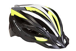 Шлем велосипедный с козырьком CIGNA WT-068 черно-красный (черно-бело-салатный)