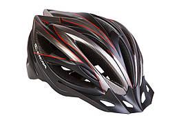 Шлем велосипедный с козырьком CIGNA WT-068 черно-красный (черно-красный)