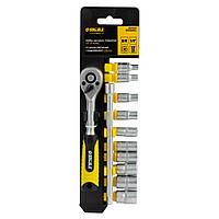 """Ключ-тріскачка 1/4"""" з набором насадок і подовжувачем 12шт CrV mid Sigma (6003501)"""