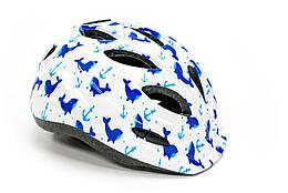 Шлем велосипедный FSK KY501 бело-голубой