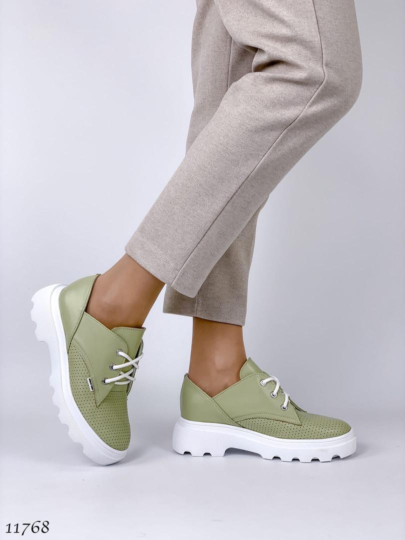 Туфлі жіночі зелені 11768 (ЯМ)