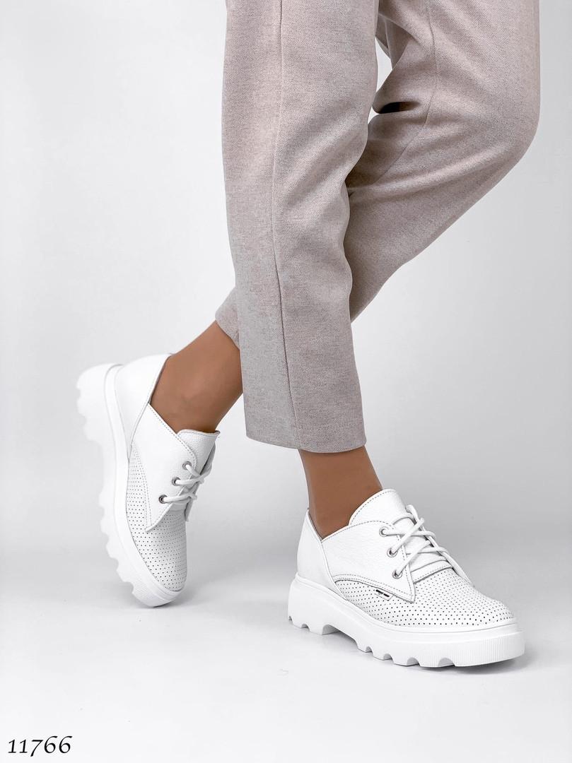 Модні білі туфлі 11766 (ЯМ)