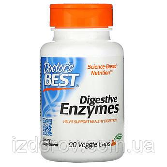 Doctor's Best, Пищеварительные ферменты, Digestive Enzymes, 90 растительных капсул