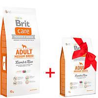 Сухой корм для взрослых собак средних пород Brit Care Adult Medium Breed Lamb & Rice 12 кг