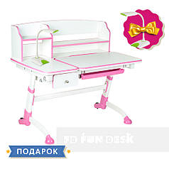 Дитяча парта регульована FunDesk Amare II Pink з висувним ящиком
