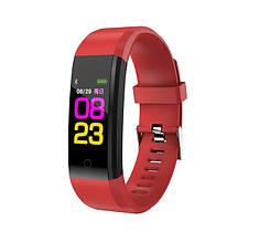 Фітнес-браслет з вимірюванням пульсу і тиску YBB Smart Band B05 Червоний - Аксесуари для розумних годин та фітнес