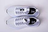 Кроссовки кожаные белые перфорированные, фото 3