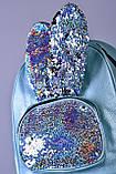 Женский бирюзовый рюкзак с ушками код 7-809, фото 2
