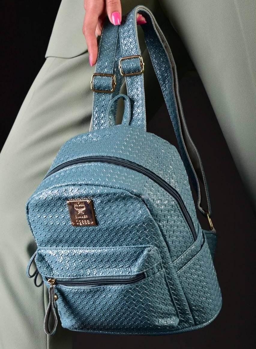 Бірюзовий жіночий рюкзак код 7-720