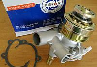 Насос водяной ГАЗ двигатель 405 с эл/магнитной муфтой Диаметр патрубков 44мм и 38мм (пр-во ПЕКАР)