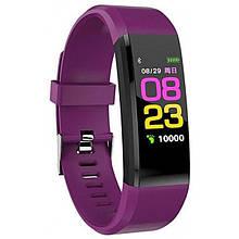 Фітнес-браслет з вимірюванням пульсу і тиску YBB Smart Band B05 Фіолетовий - Аксесуари для розумних годин і