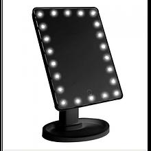 Сенсорное настольное зеркало для макияжа YBB Magic Makeup с 22 LED подсветкой Black
