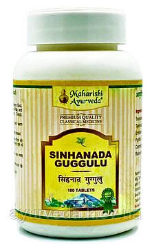 Синханада гугул - ревматизм, подагра, паралич, астма, слоновая болезнь, водянка, Sinhanada Guggulu 25gm 100tab