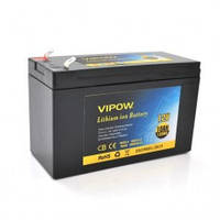 Аккумуляторная батарея литиевая Vipow 12V 10A с элементами Li-ion 18650  со встроенной ВМS платой, (3S5P)