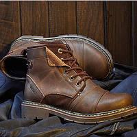 Винтажные мужские ботинки из натуральной кожи