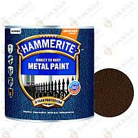 Емаль по металу 3в1 Hammerite молоткова темно-коричнева (2,5 л), фото 1