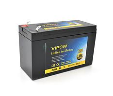 Аккумуляторная батарея литиевая Vipow 12V 14A с элементами Li-ion 18650  со встроенной ВМS платой, (3S7P)