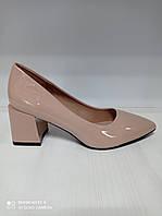 Туфли женские лаковые бежевые размер 36 38 38